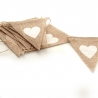 Hessian Bunting with Heart