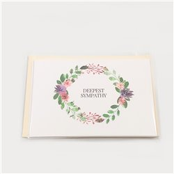 Deepest Sympathy Cards - 5-pack