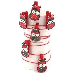 Owl Red Pegs
