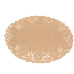 Oval Doilies Natural