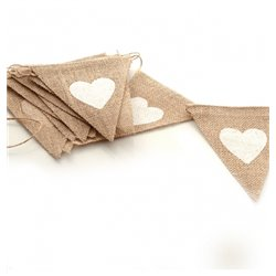 Hessian Bunting with White Heart