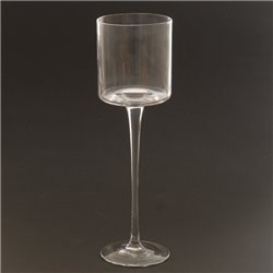 Clear Glass Candle Holder 30cm