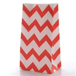 Chevron Footed Paper Bag