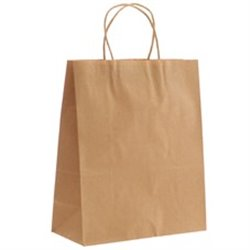 Natural Plain Footed Paper Bag with Handle