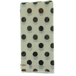 White with Black Dots Party Tablecloth