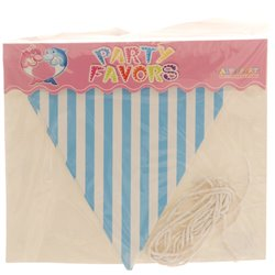 Blue Striped Party Paper Bunting