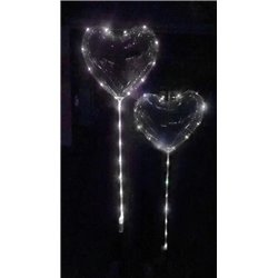 PVC Heart Balloon with LED 45cm