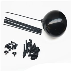 Black Balloons With Sticks