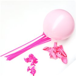 Pink Balloons With Sticks