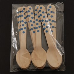 Dotted Wooden Spoons