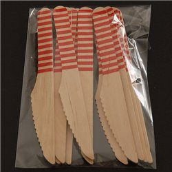 Striped Wooden Knives