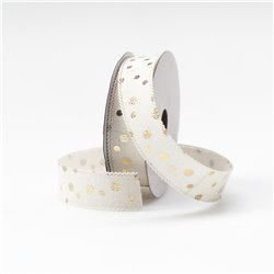 Ribbon Gold Dot 25mm