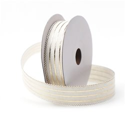 Ribbon Gold Stripe 25mm
