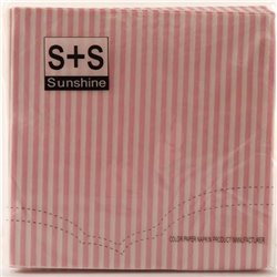 Striped Paper Serviettes