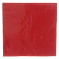 Red Plain Serviettes 20pcs