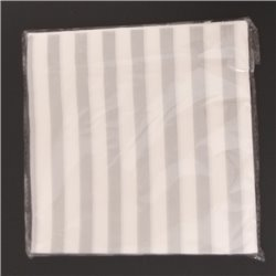 Stripe Grey Serviettes 20pcs