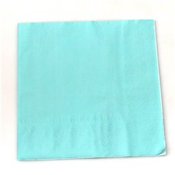 Plain Light Blue Serviettes 20pcs