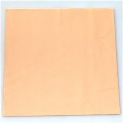 Plain Peach Serviettes 20pcs