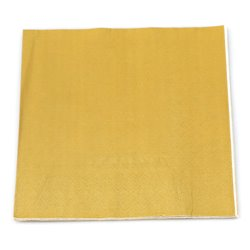 Plain Gold Serviettes 20pcs