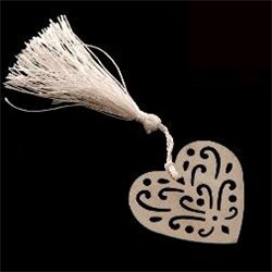 Heart Bookmark Silver
